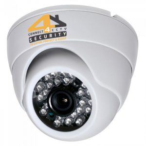 white dome camera connect 4 cctv