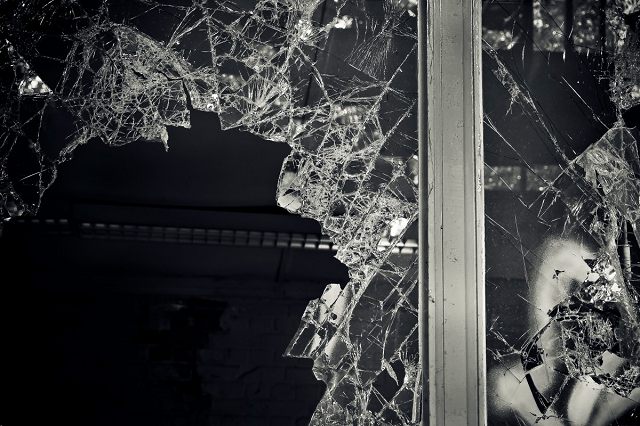 the impact of burglary break in smashed window